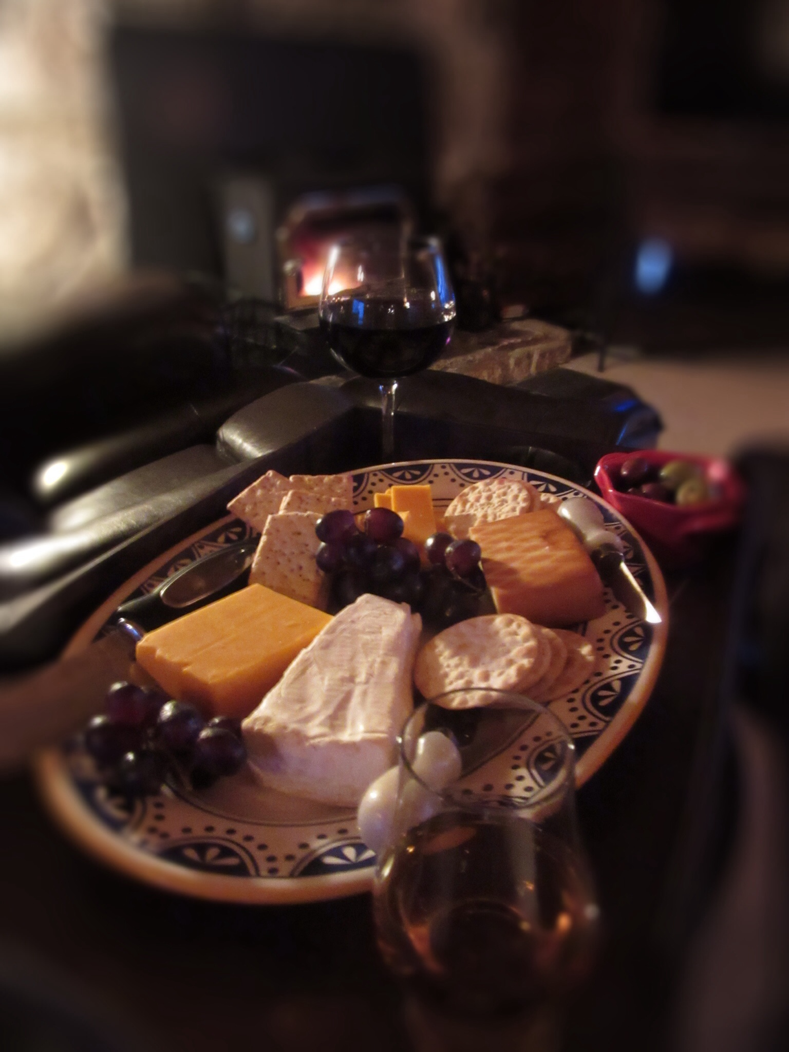 Simple Pleasures: Cheese Plate by the Fire