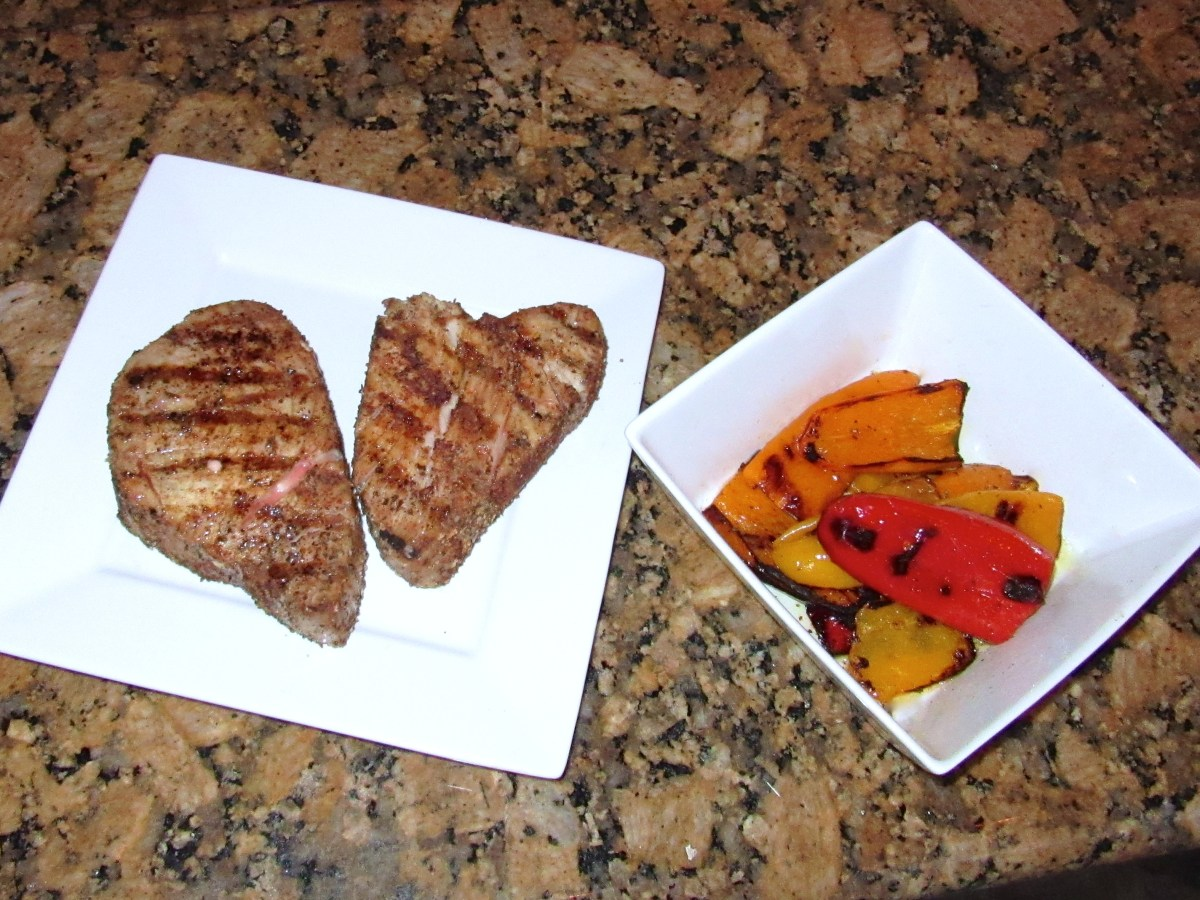 Grilled Tuna and Peppers
