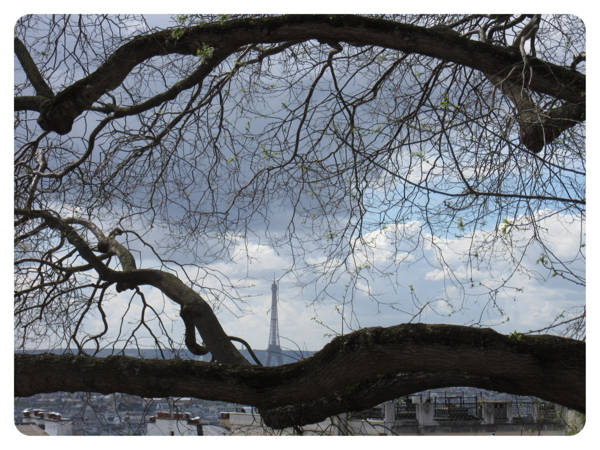 Montmartre Oak Frames Eiffel Tower