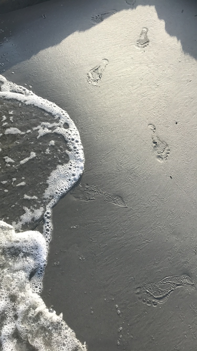 you, amazing you / footprints on our heart-sands (another poem for Dad from a grateful daughter)