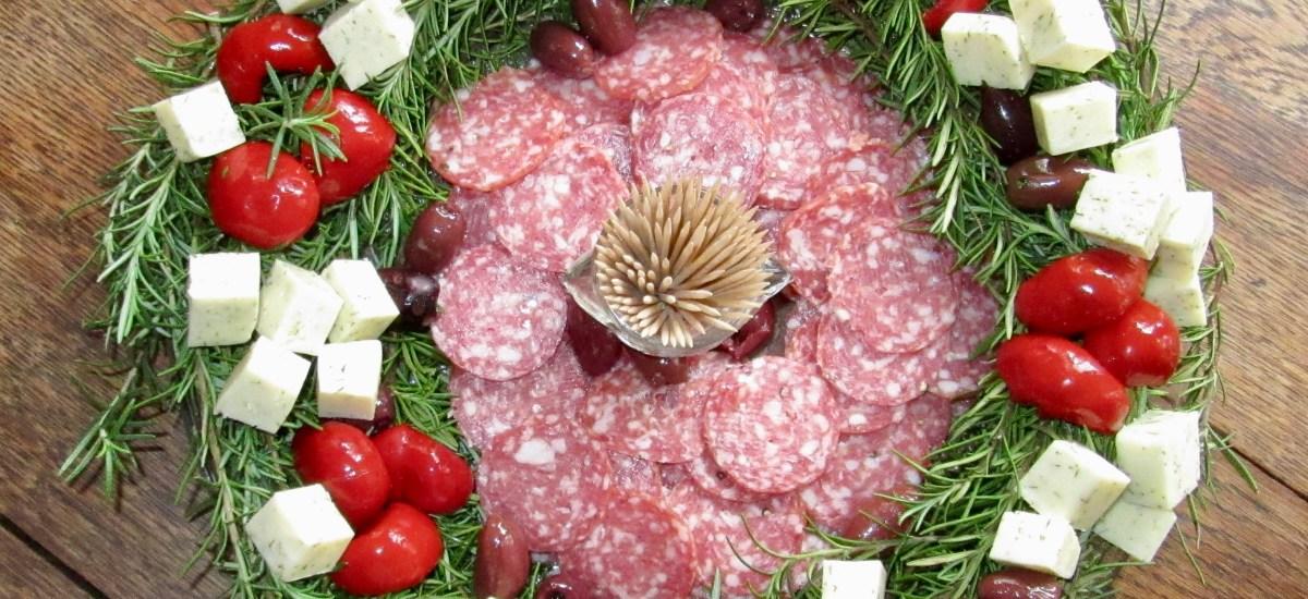 Rosemary Wreath Appetizer Platter