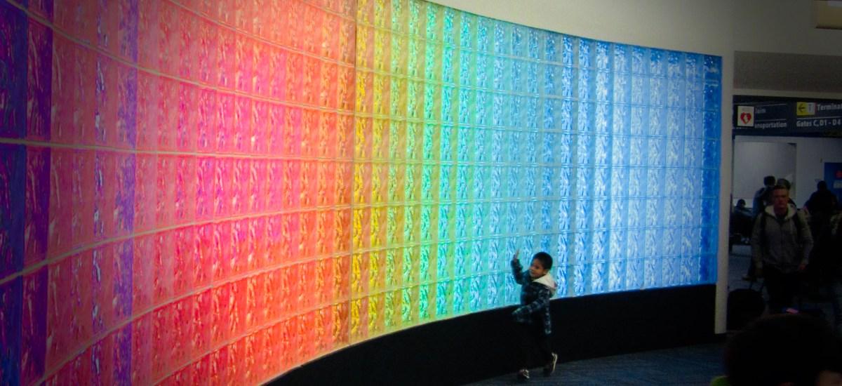 Haiku for Little Boy's Joy: Touching an Airport Rainbow