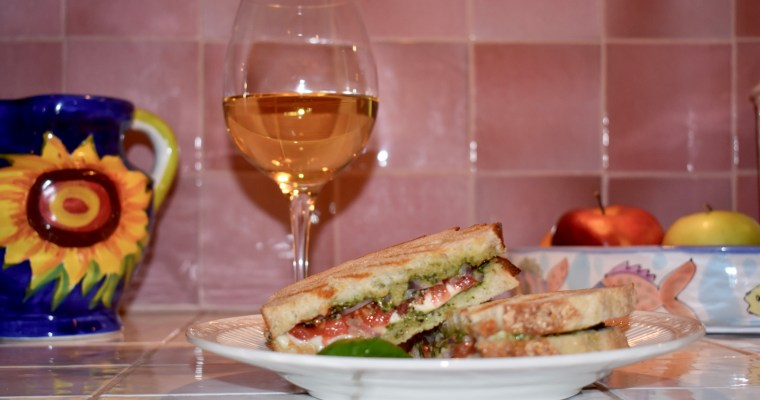 Sandwich Wednesday: Pesto Mozzarella Paninis for Two