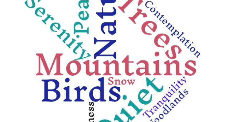 Mountains and Birds Make Me Happy