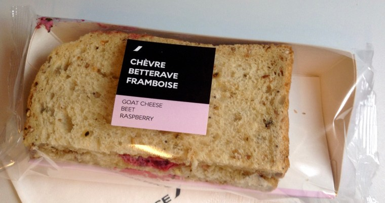 Still Not a Fan of Beets…Strange In-Flight Sandwich