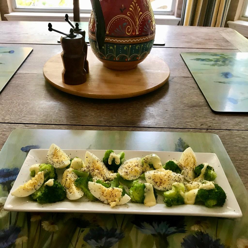 Broccoli-Egg Salad with Hollandaise