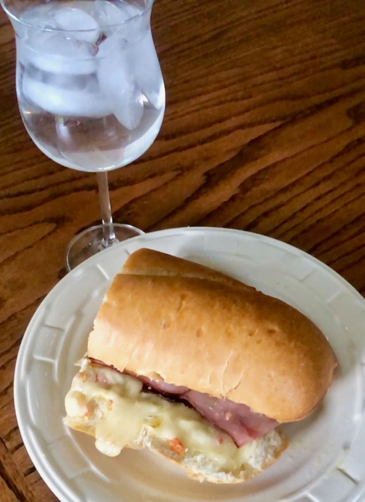 The Sandwich, with a beautiful glass of ice water