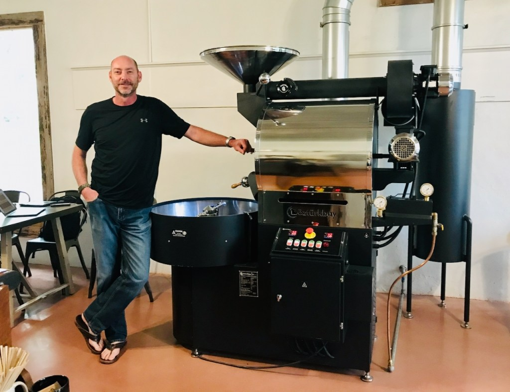 Carl the Roaster at Neon Moon Coffee