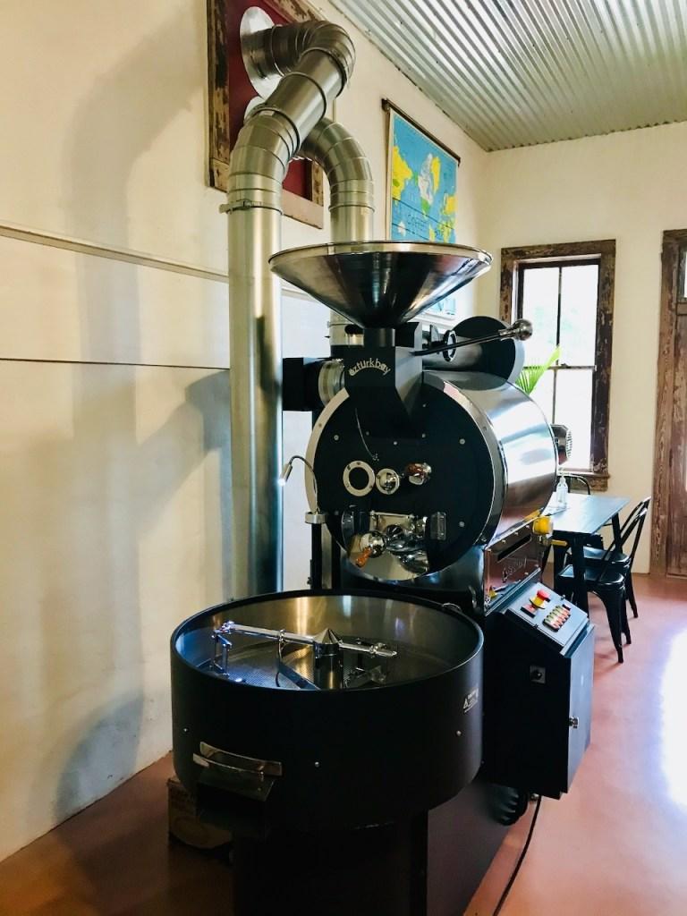 The big roaster at Neon Moon Coffee