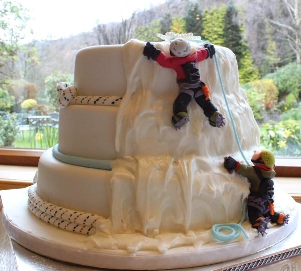 Rock Climbing Wedding Cake