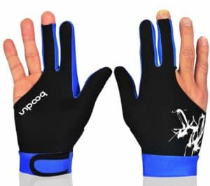 MIFULGOO Elastic 3 Fingers Show Gloves for Billiard - for Both Hands