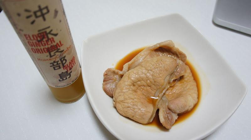 沖永良部島生姜シロップを使った生姜焼き