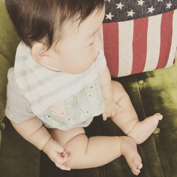 お嬢6ヶ月、坊ちゃん3歳4ヶ月。