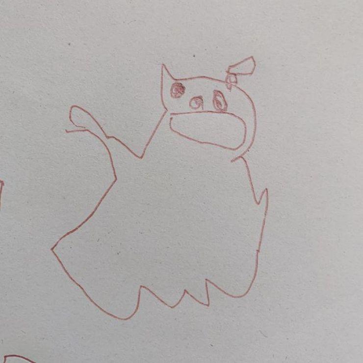 ねこちゃん #3歳画伯の絵