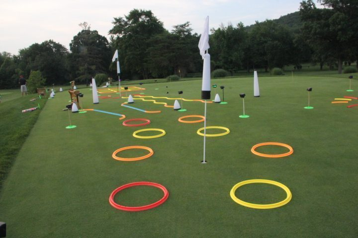 Cosmic Putting Track and office golf game  Glowgear night golf