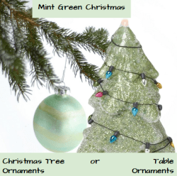 Mint green Christmas Ornaments
