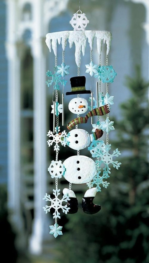 Winter Snowman Wind Chime
