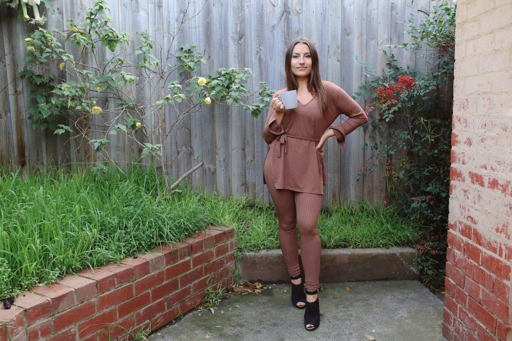 Femme Luxe Finery Asia belted loungewear set - our choice in brown