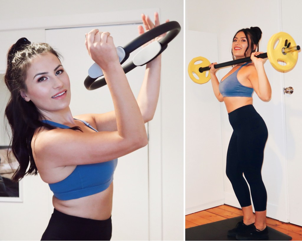 Deni with the Ergo Toning Pilates Ring and SPART Pumpset from Orbit Fitness Equipment