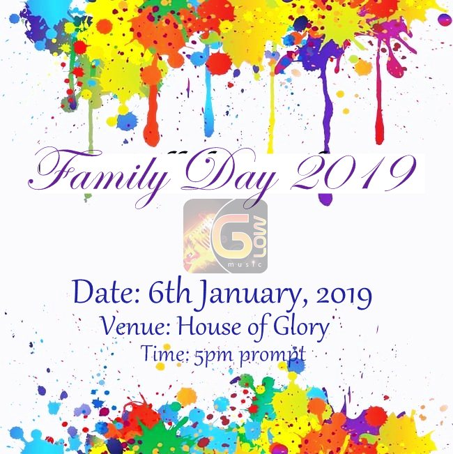 glow music family day 2019 at house of glory spintex road