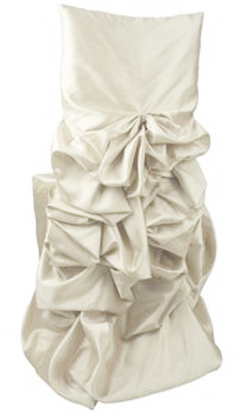 ruched chair covers vintage chrome chairs glow the event store cover ivory taffeta 5 00 1