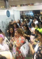 The crazy line for our photobooth