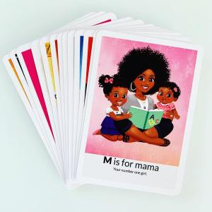 m is for mama african american abc flash card alphabet flashcards
