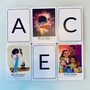 ABC flash card front flash card african american alphabet abc flashcards