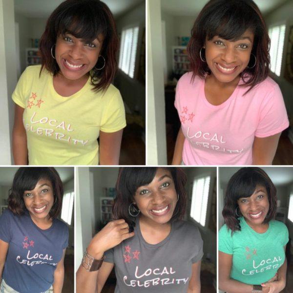 local celebrity t shirt multiple colors