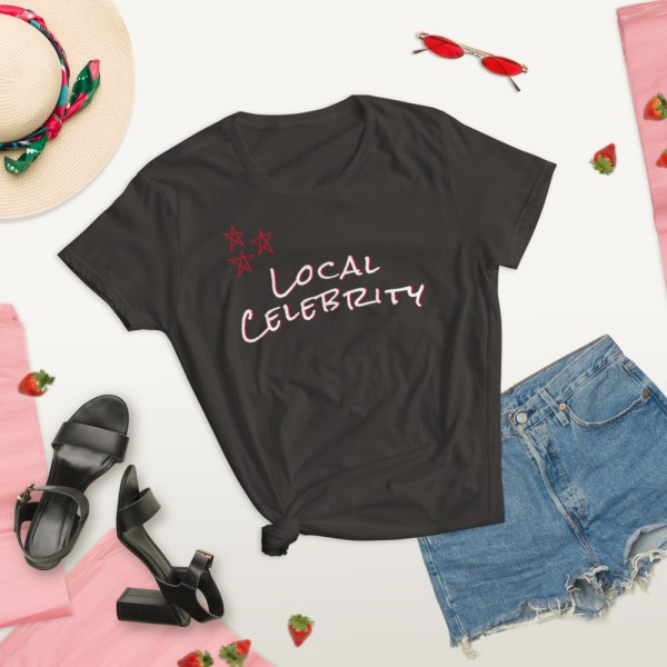 smoke local celebrity summer lifestyle short sleeve women's cotton t-shirt classic fit tee