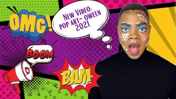 halloween makeup pop art b rich beauty