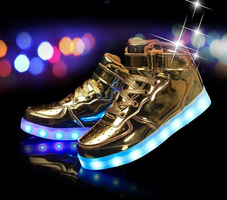 Astro Gold – High Top LED Shoes | Glow