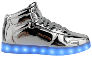Silver high Top LED Shoes