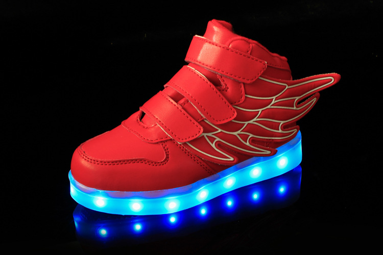38f5eb43cfbb Rocket Boots Red for Kids – High Top LED Shoes