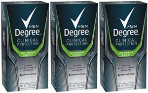 Degree Men clinical strength antiperspirant and deodorant, best men's deodorant for sensitive skin