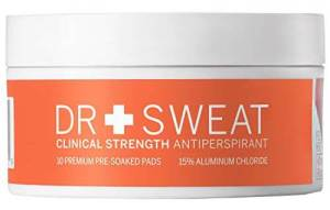 Dr. Sweat Antiperspirant Deodorant Pads for Excessive Sweating Clinical Strength Reduce Sweating for 7 Days, best underarm sweat pads