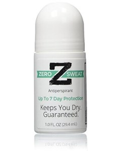 ZeroSweat Antiperspirant Deodorant Clinical Strength hyperhidrosis treatment - reduces armpit sweat and smell. This is the best way to stop sweating.