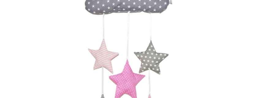Mobile Sterne rosa