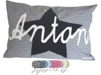 Hier finden Sie unsere Namenskissen mit Stern in vielen verschiedenen Vichykaro Farben