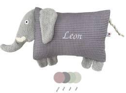 Schauen Sie Sich hier unser Kuscheltier Kissen Elefant in vier unterschiedlichen Pastellfarben an