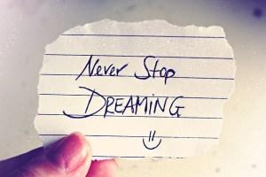 Gedichte und Verse never stop dreaming