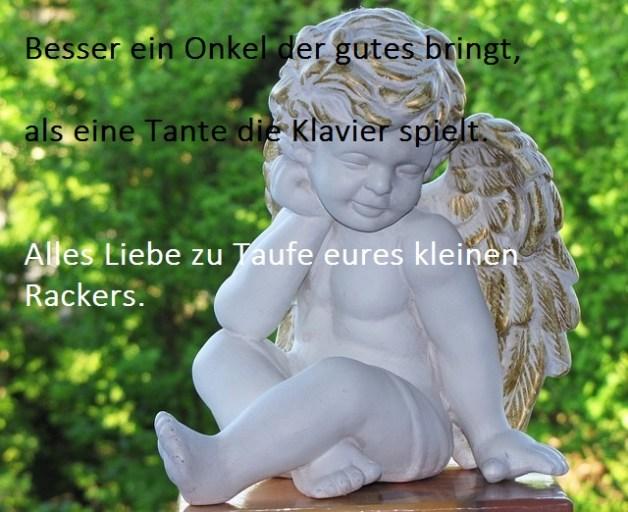 spruch zur taufe engel witzig