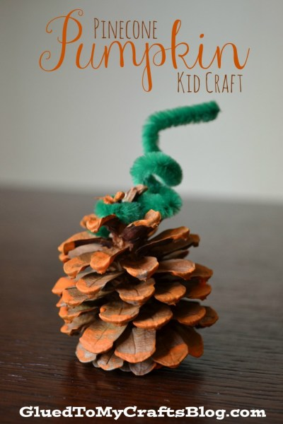 Pinecone Pumpkin {Kid Craft}