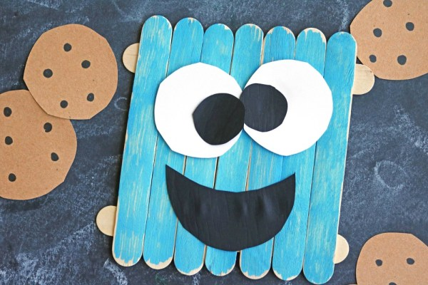 Popsicle Stick Cookie Monster - Kid Craft