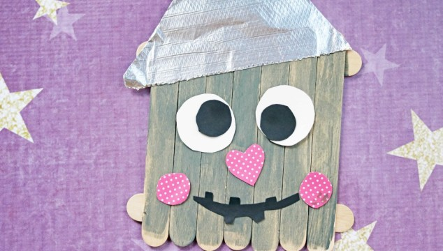 Popsicle Stick Tin Can Man – Kid Craft Idea