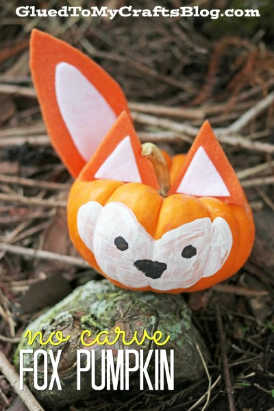 No Carve Fox Pumpkin - Craft