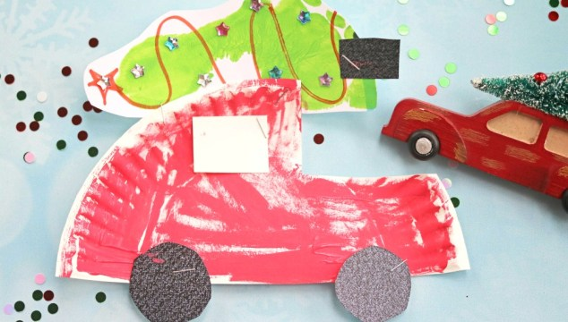 Paper Plate Christmas Car – Kid Craft