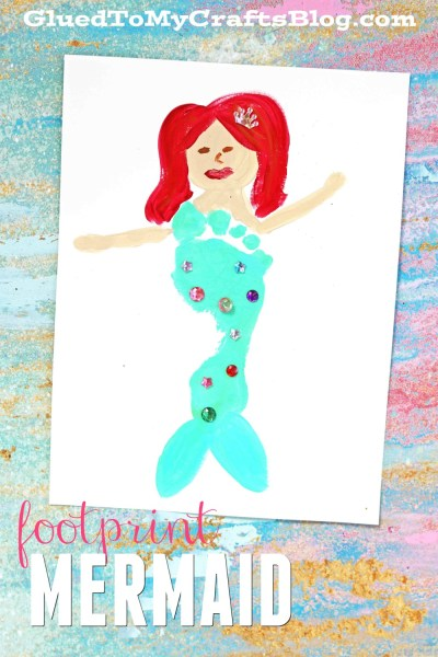 Colorful Footprint Mermaid - Keepsake Gift Idea