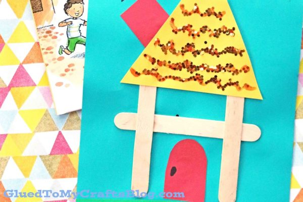 Popsicle Stick H Is For House Kid Craft Glued To My Crafts