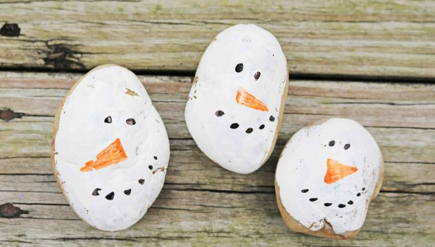 Snowman Rocks – Kid Craft